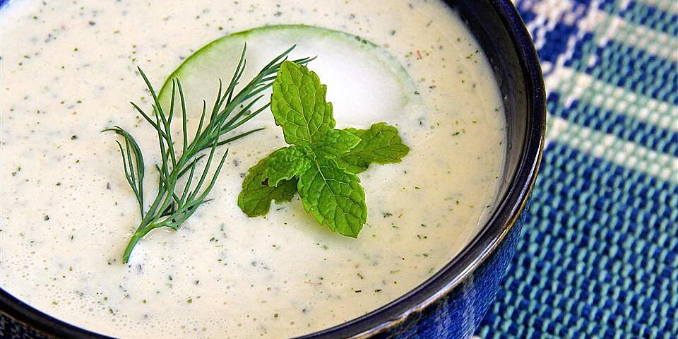 easy cold cucumber soup recipe