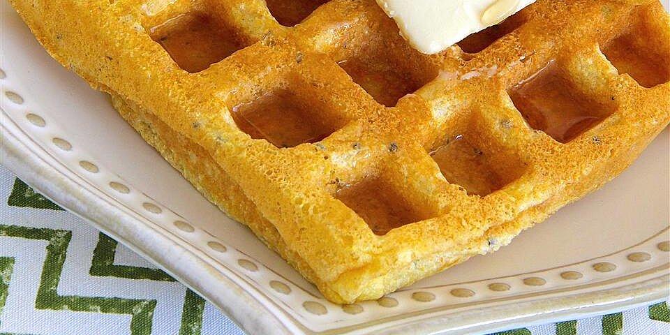 cornmeal waffles with chia seeds recipe