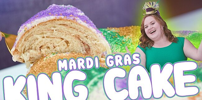 celebrate mardi gras with the best cream cheese king cake