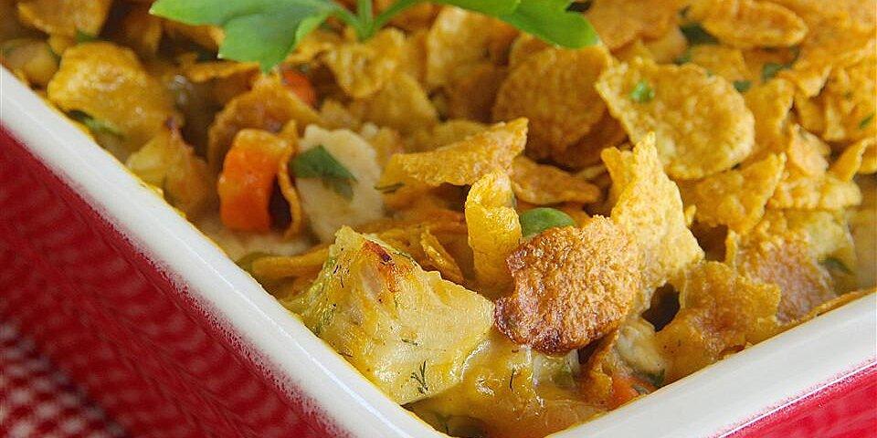 buttermilk chicken and corn flake baked casserole recipe