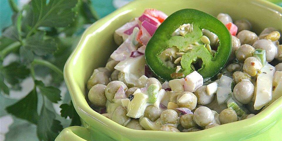 super spicy pea salad recipe