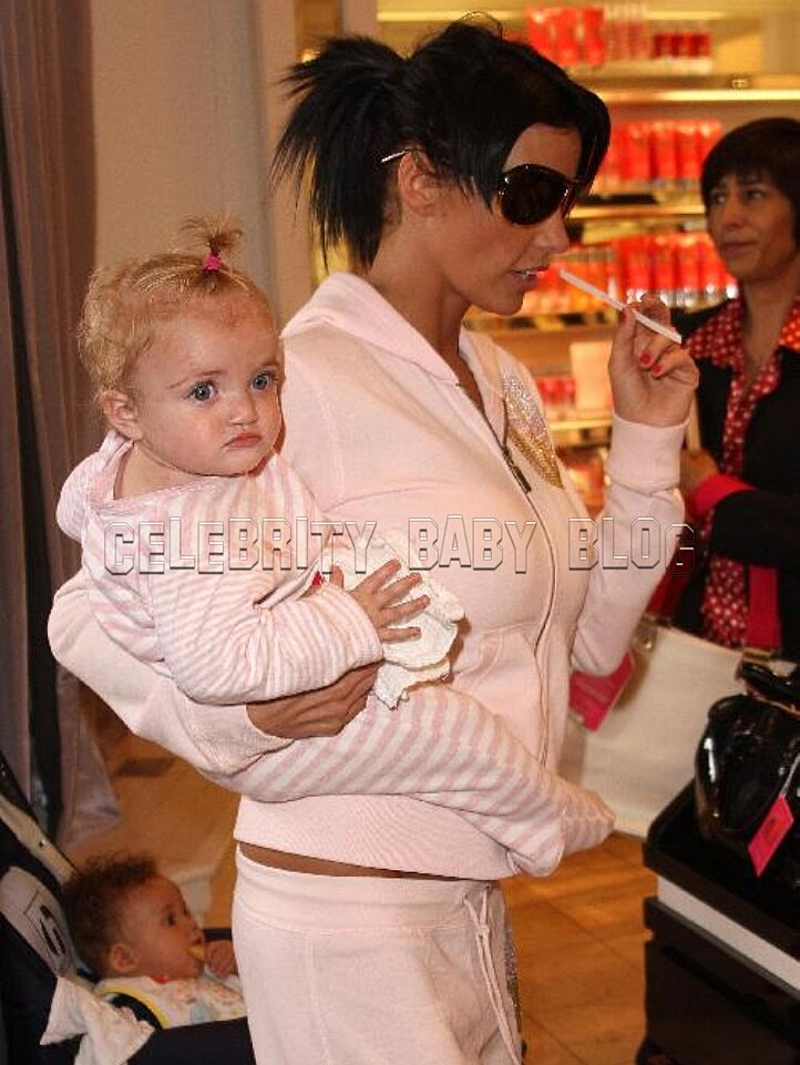 Katie Price Peter Andre And Princess Tiaamii At The Grove People Com