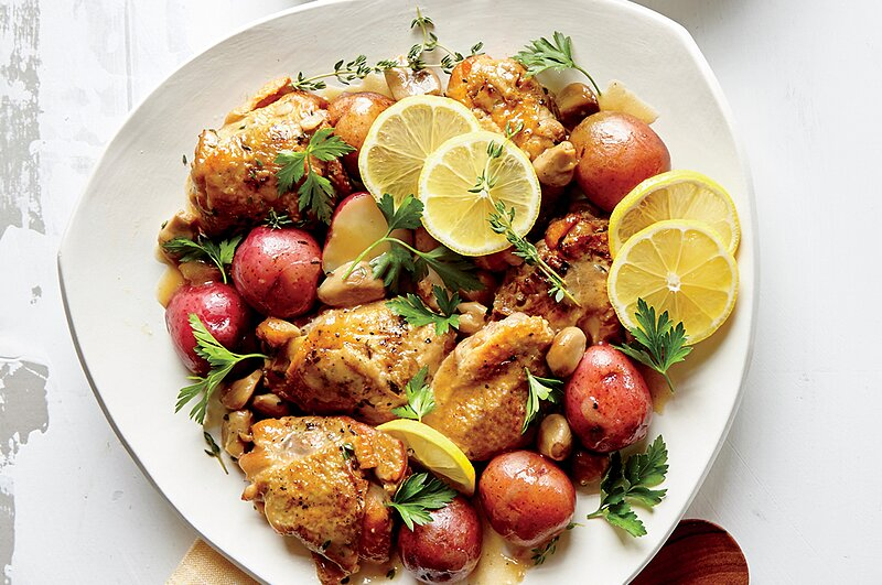 Slow Cooker Chicken with 40 Cloves of Garlic