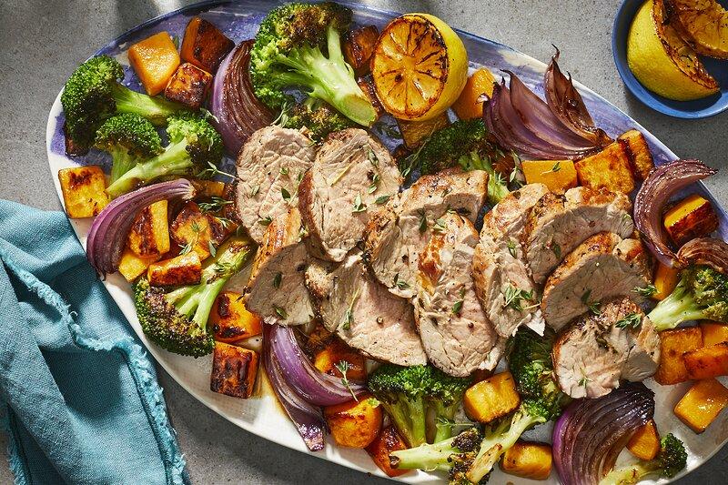 mr-Sheet Pan Pork Tenderloin with Broccoli and Butternut Squash Image