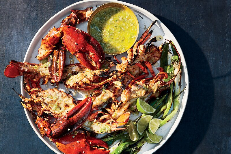 jerk grilled lobster