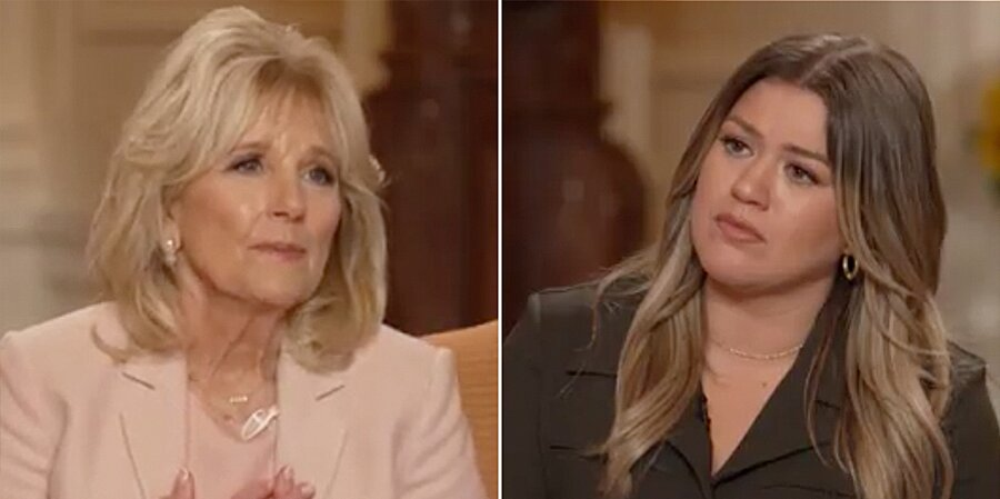 First Lady Dr. Jill Biden Gives Kelly Clarkson Advice on Managing a Divorce in New Interview.jpg