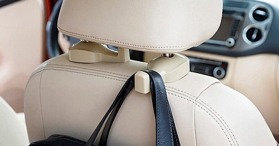These $8 Car Headrest Hooks Make the Best Purse Holder For Any Spill-Prone Driver