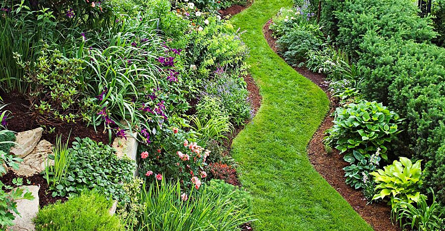 Garden Tour Tame A Steep Backyard Midwest Living