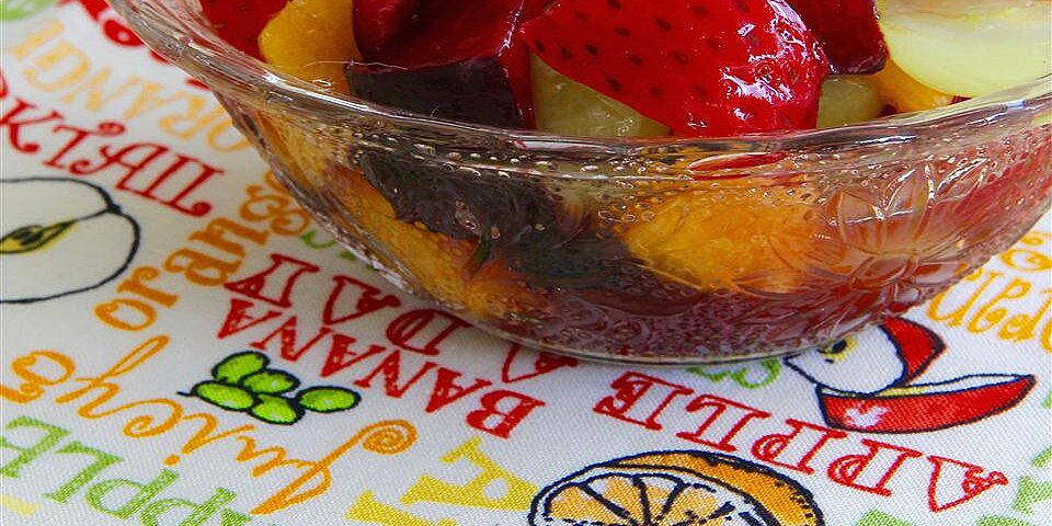 summer fruit salad with whipped cream recipe