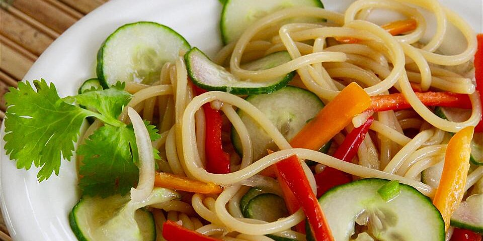 thai cucumber salad with udon noodles recipe