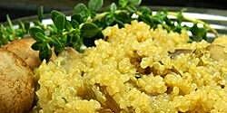 quinoa pilaf with mushrooms recipe