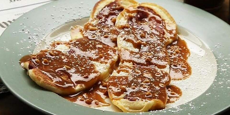 back to bacon pancake strips with maple peanut butter sauce recipe