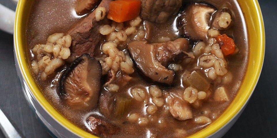 kellys slow cooker beef mushroom and barley soup recipe