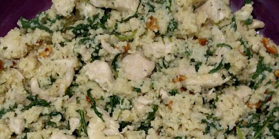 arugula chicken and walnut couscous recipe