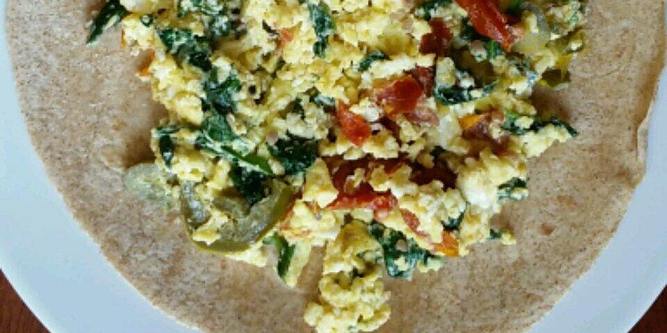 spinach feta egg wrap recipe