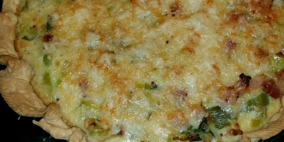 leek and bacon quiche with maille dijon originale mustard