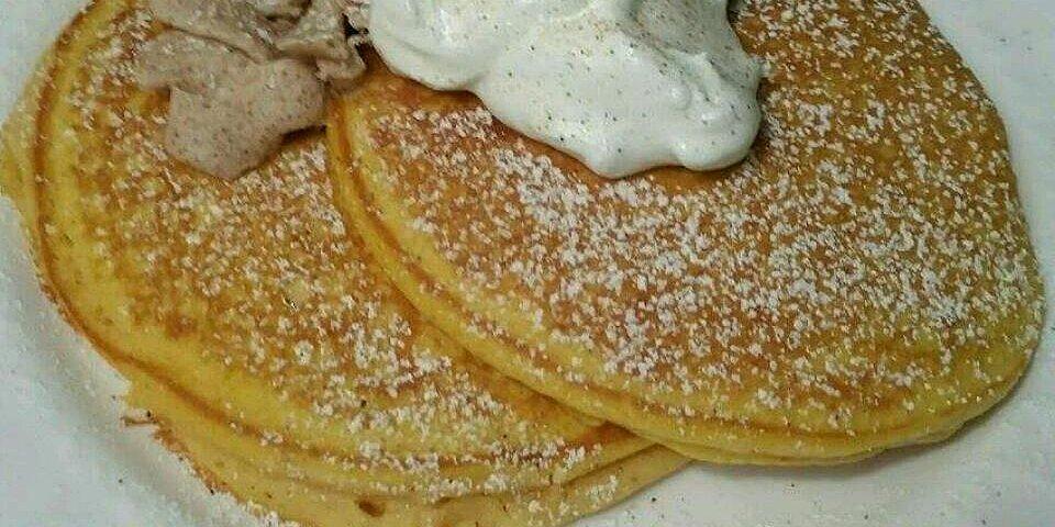 pumpkin pancakes with nutmeg whipped cream recipe