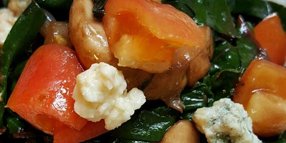 warm swiss chard and mushroom salad recipe