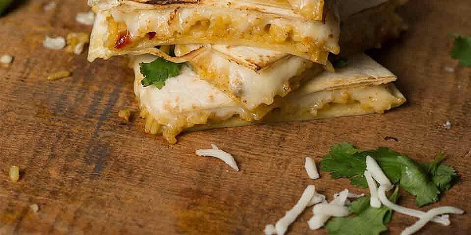 cheese n rice quesadillas