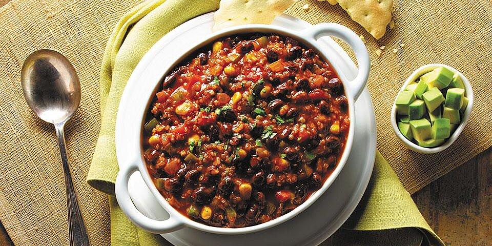 quinoa and black bean chili from goya