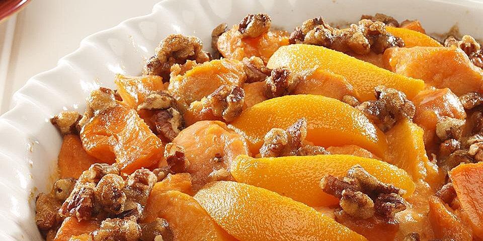 sweet potato peach bake