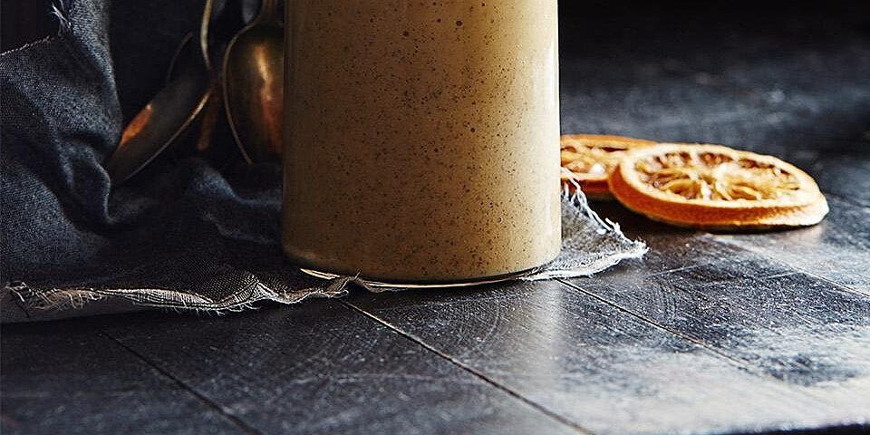 orange banana smoothie with chia recipe