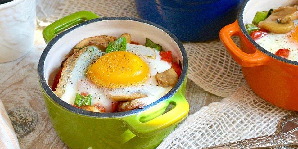 baked mushroom chicken sausage bowls recipe