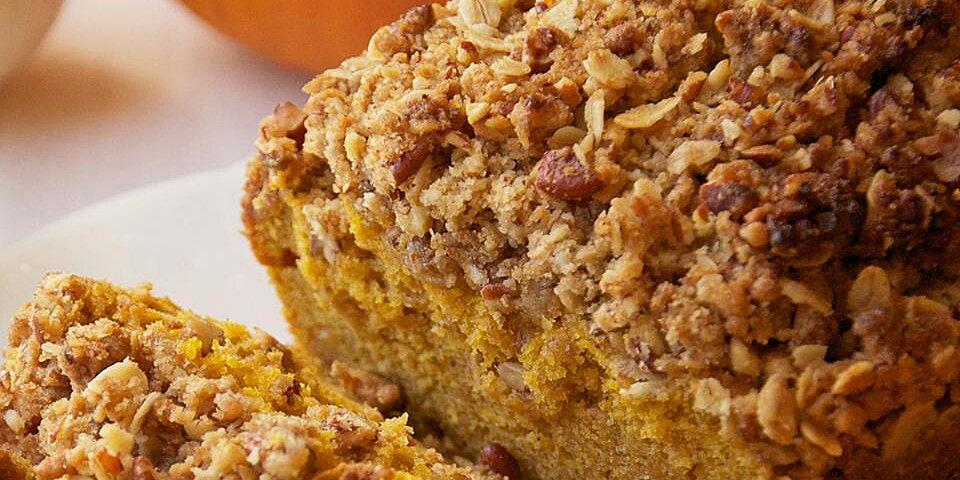 walnut streusel pumpkin bread recipe