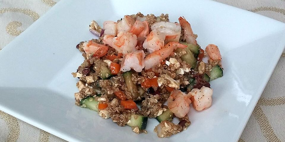 mediterranean quinoa salad with shrimp recipe