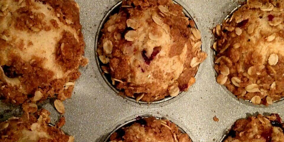 whole wheat huckleberry crumb muffins recipe