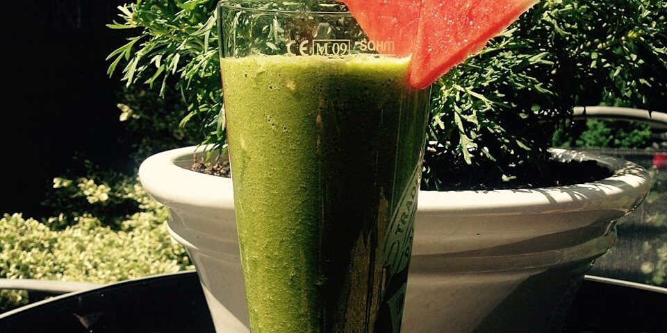 watermelon refreshing green smoothie recipe