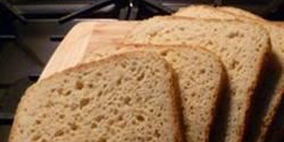 gluten free bread in a bread machine recipe