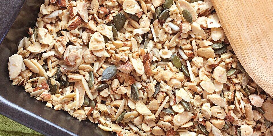easy grain free nutty granola recipe