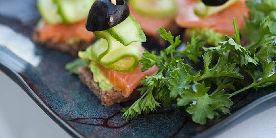 festive finger food with smoked salmon and olives recipe