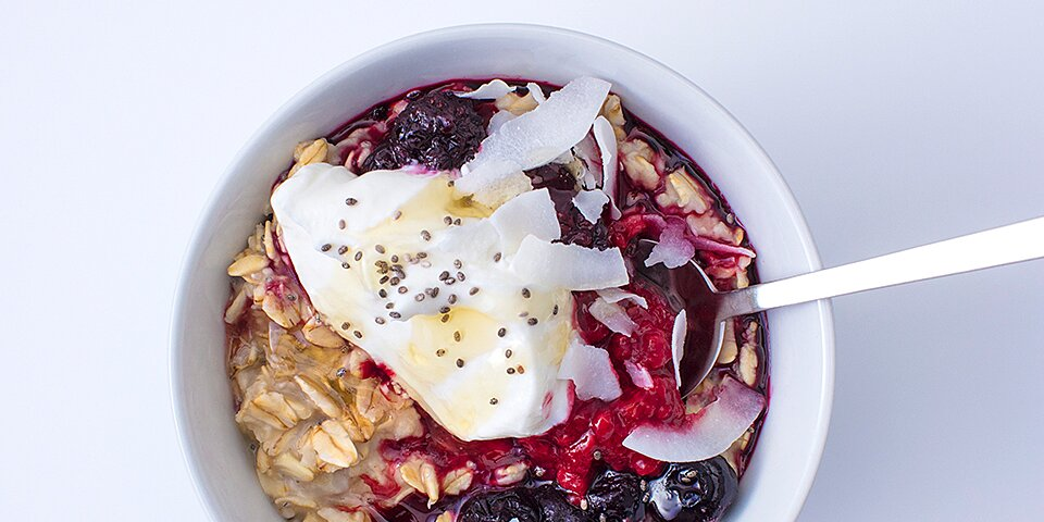 chia berry swirl oats recipe