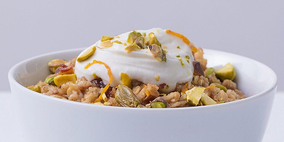 spicy orange date oat bowl