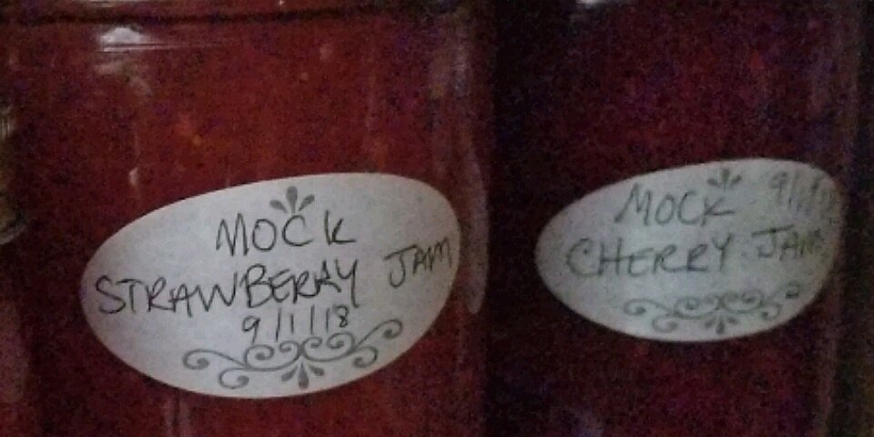 mock strawberry jam recipe
