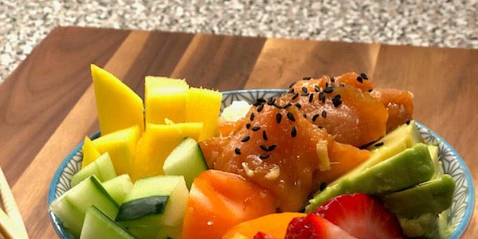 smoked salmon poke bowl recipe
