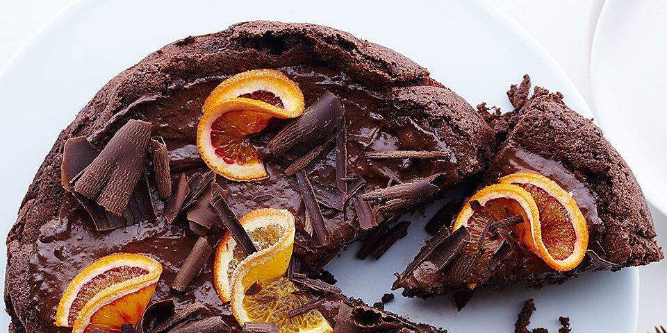 ghirardelli chocolate and orange mousse cake