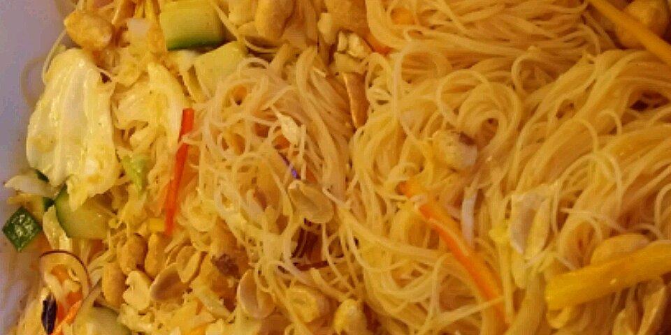 asian rice noodle salad recipe