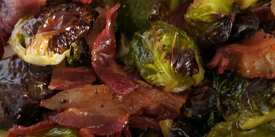 maple roasted brussels sprouts with bacon recipe