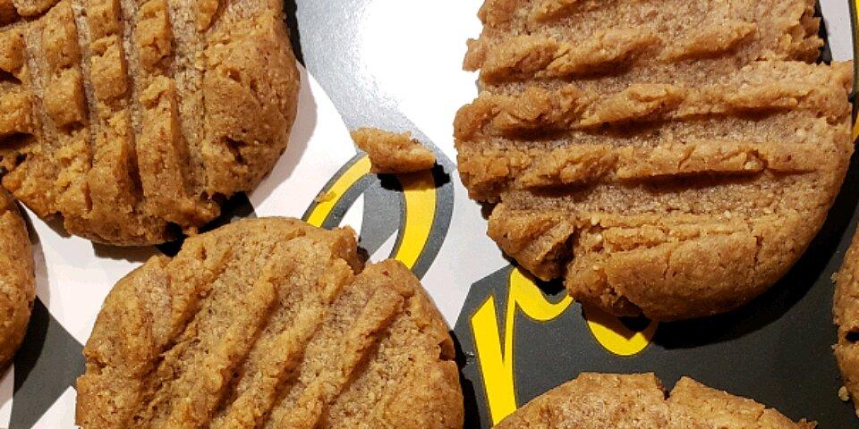 4 ingredient keto peanut butter cookies recipe