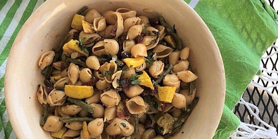 mediterranean chickpea pasta salad recipe