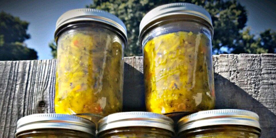 sweet zucchini relish recipe