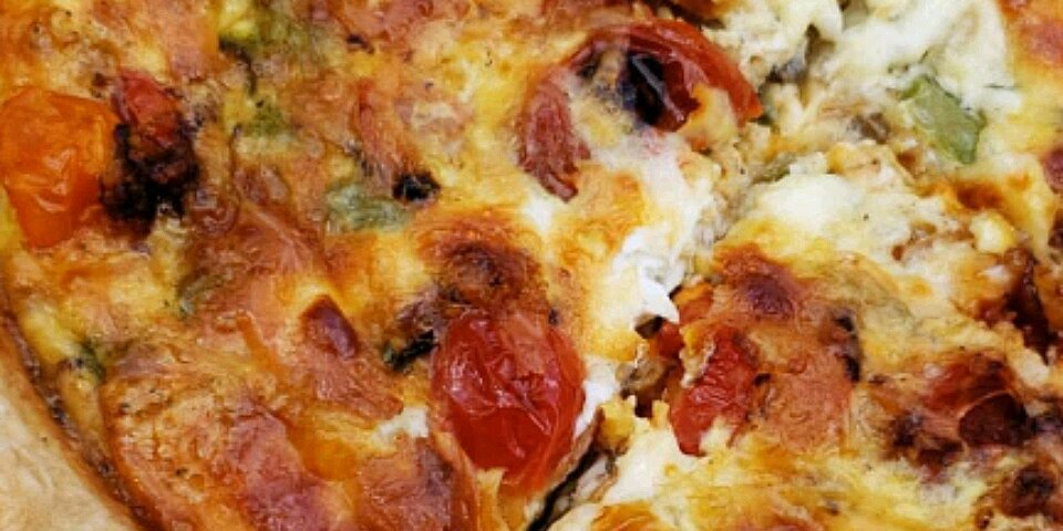 loaded vegetarian quiche recipe