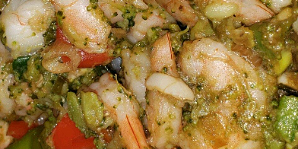 utokias ginger shrimp and broccoli with garlic