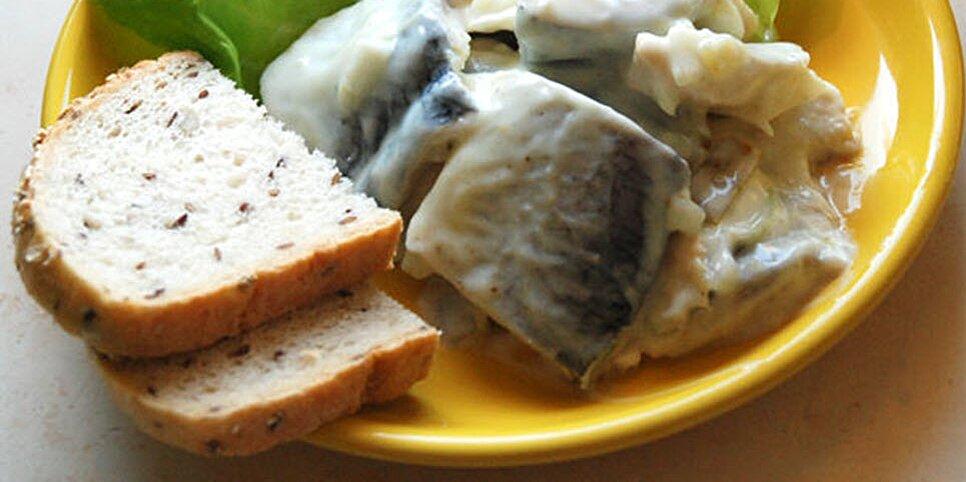 sledzie w jogurcie herring in yogurt dressing recipe