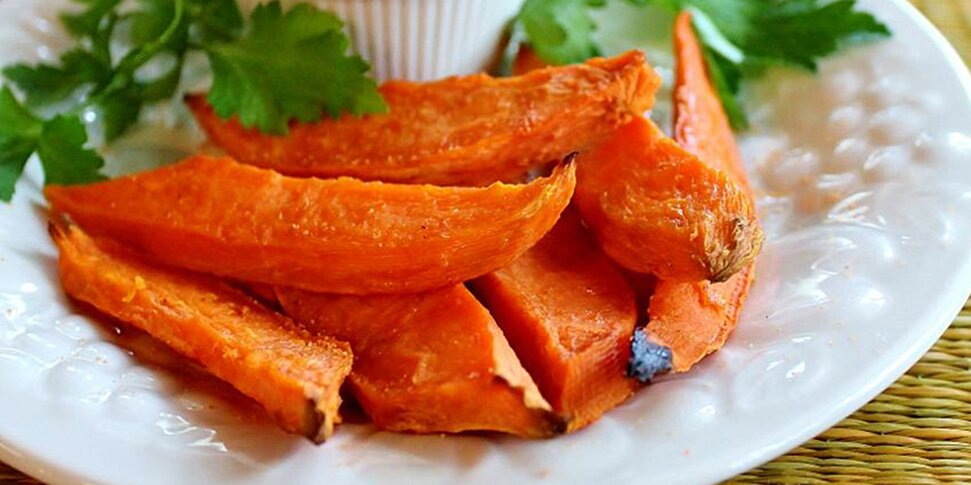 baked yam fries with dip recipe