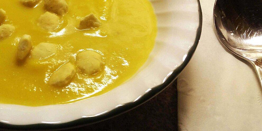 savory pumpkin soup with ham recipe