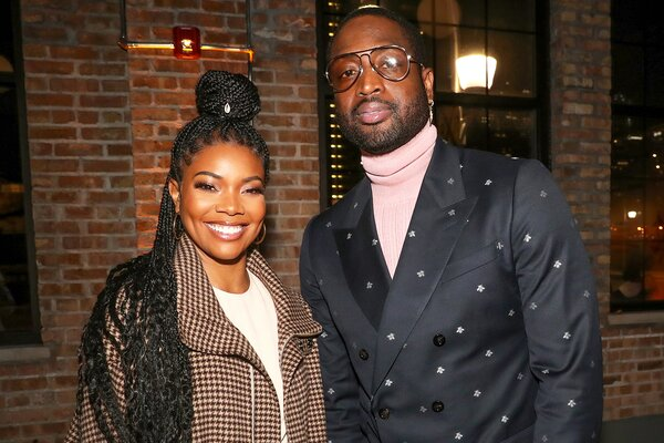 Gabrielle Union and Dwyane Wade attend Stance Spades At NBA All-Star 2020 at City Hall on February 15, 2020 in Chicago, Illinois.